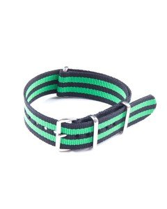 20mm Black and Green NATO Strap