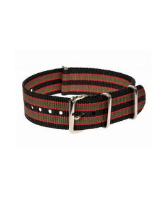 20mm Black, Red and Olive Green NATO Strap