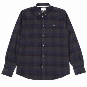 ANTON BRUSHED FLANNEL CHECK - DARK NAVY