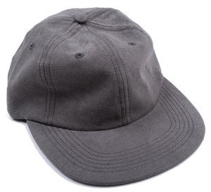 Light Faux Suede Cap