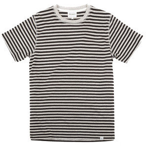 NIELS CLASSIC STRIPE - LIGHT GREY/CHARCOAL MELANGE