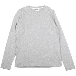 NIELS STANDARD L/SLEEVE - Light Grey Melange