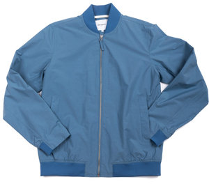 Ryan Crisp Cotton Jacket - Marginal Blue
