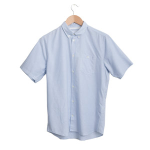THEO SHORT SLEEVE OXFORD - BLUE STRIPE