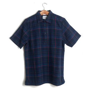 THEO TEXTURED CHECK - DARK NAVY