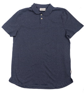 Harper Polo - Navy/Oatmeal