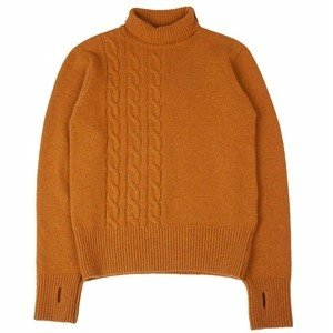 TALBOT ROLL NECK - CABLE OCHRE