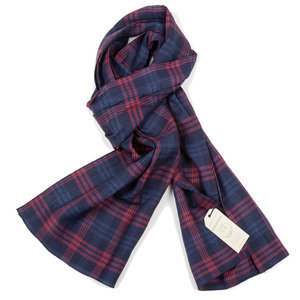 Travers Scarf - Indigo Red