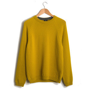 CREW NECK SWEATER - MUSTARD