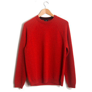 CREW NECK SWEATER - RED