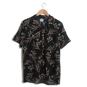 'Cypress' Print Short-Sleeve Shirt - Black