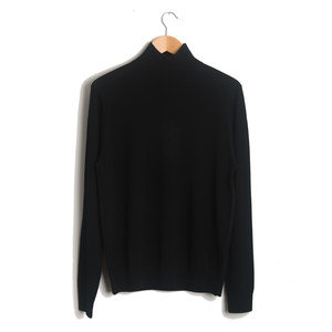 FUNNEL NECK PULLOVER - BLACK