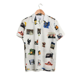 'Harold's Photos' Print Short-Sleeve Shirt - White