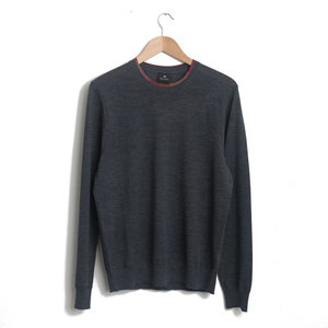 Merino-Wool-Blend Sweater - Charcoal