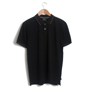 Polo Shirt - Black with Coloured Tipping