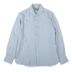 Long Sleeved Shirt - Linen Ballad Blue
