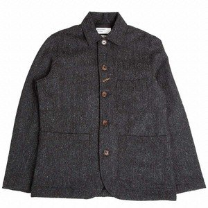 Bakers Chore Jacket - Charcoal Harris Tweed