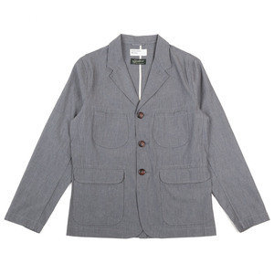 Barra Jacket - Grey Washed Cotton Suiting