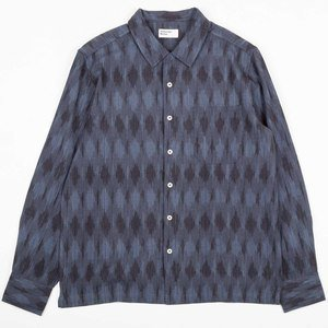Garage Shirt - Indigo Heavy Ikat