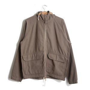 Hooded Windbreaker - Warm Stone Canvas