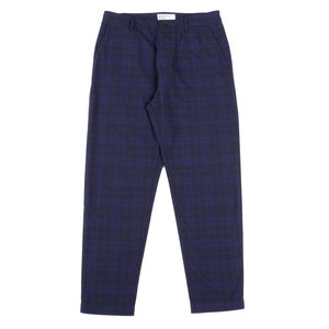 Military Chino - Navy Cotton Check Suiting