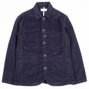 Norfolk Bakers Jacket - Navy Velvet Cord