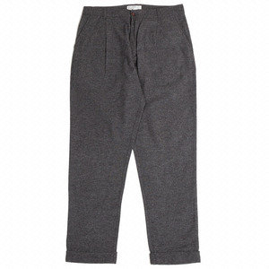 Pleated Pant - Grey Wool Marl