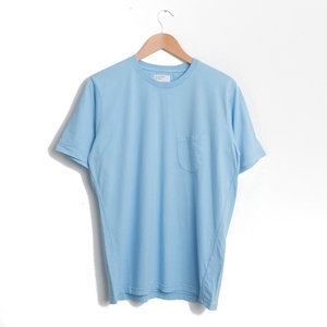 Pocket Tee - Sky Blue Single Jersey