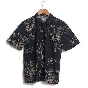 Road Shirt - Navy Flower Poplin