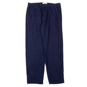 Track Trouser - Indigo Denim Herringbone