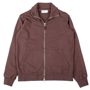 Zip Trough Sweat Jacket - Raisin