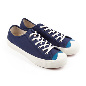 Colour Toe Wing Tip Trainer - Navy/Blue