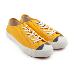 Colour Toe Wing Tip Trainer - Yellow/Navy