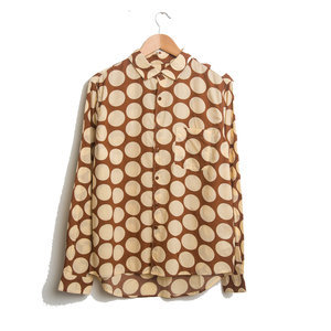 Curtis Shirt Spot Print - Brown