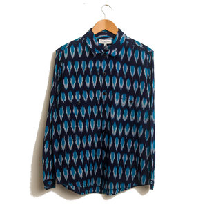 Doc Savage Shirt Ikat Diamond - Blue